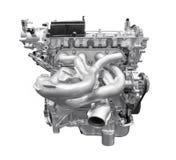 Moderne die motor van een auto op witte achtergrond met het knippen van klopje wordt geïsoleerd royalty-vrije stock foto