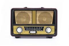 Moderne die retro radio op witte achtergrond wordt geïsoleerd stock foto