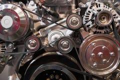 Moderne dieselmotor royalty-vrije stock fotografie