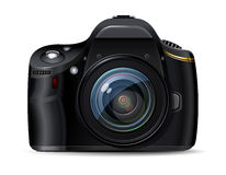 Moderne digitale Reflexkamera Stockfotografie