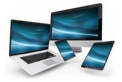 Moderne digitale silberne Wiedergabe des Technologiegerätes 3D Lizenzfreies Stockfoto