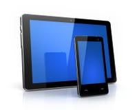 Moderne digitale stootkussen en telefoon stock illustratie