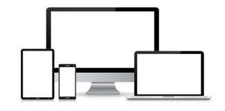 Moderne digitale technologie-apparateninzameling Stock Foto