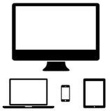 Moderne digitale technologie-apparateninzameling Royalty-vrije Stock Afbeelding