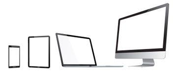 Moderne digitale technologie-apparateninzameling Stock Afbeelding