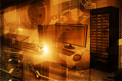 Moderne digitale technologieachtergrond Royalty-vrije Stock Afbeeldingen