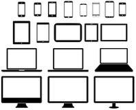 Moderne digitale Technologiegerätsammlung Lizenzfreie Stockfotos
