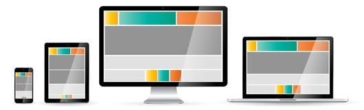 Moderne digitale Technologiegerätsammlung Lizenzfreie Stockfotografie