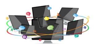 Moderne digitale Technologiegerätsammlung Lizenzfreie Stockbilder