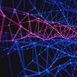 Moderne DNA van de Structuurmolecule atoom Molecule en communicatie achtergrond voor geneeskunde, wetenschap, technologie, chemie Royalty-vrije Stock Foto