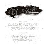 Moderne Doopvont Alfabet Kalligrafie en het van letters voorzien Royalty-vrije Stock Foto