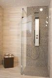 Moderne douche stock afbeelding
