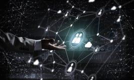 Moderne drahtlose Technologien als Durchschnitte von communucatio darstellen Lizenzfreie Stockfotos