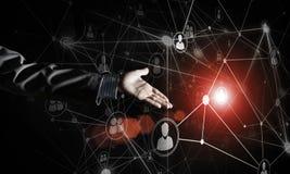 Moderne drahtlose Technologien als Durchschnitte von communucatio darstellen Stockfoto