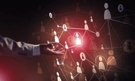 Moderne drahtlose Technologien als Durchschnitte von communucatio darstellen Stockfotos