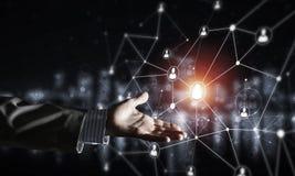 Moderne drahtlose Technologien als Durchschnitte von communucatio darstellen Lizenzfreies Stockfoto