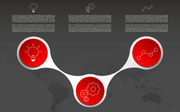 Moderne drei Schritte infographic Infographics mit Entwurfsikonen Stockfotografie
