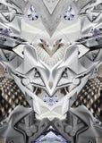 Moderne druk met slang, hout, conceptenauto en motorfiets Royalty-vrije Stock Foto's