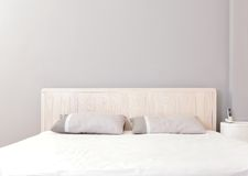 Moderne dubbele slaapkamer Royalty-vrije Stock Afbeeldingen