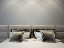 Moderne dubbele slaapkamer Royalty-vrije Stock Foto