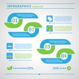Moderne eco infographics Elemente vektor abbildung