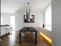 Moderne eetkamer Royalty-vrije Stock Afbeelding