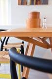 Moderne eetkamer Stock Foto