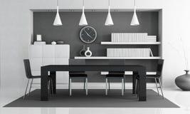 Moderne zwart witte eetkamer royalty vrije stock afbeeldingen beeld 29895469 - Eigentijdse eetkamer decoratie ...