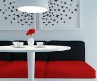 Moderne eetkamer Royalty-vrije Stock Afbeeldingen