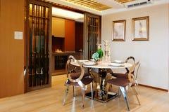 Moderne eetkamer Royalty-vrije Stock Foto