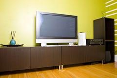 Moderne eigentijdse stijl binnenlandse ruimte Stock Afbeeldingen