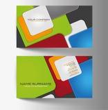 Moderne einfache helle Visitenkarte Stock Abbildung