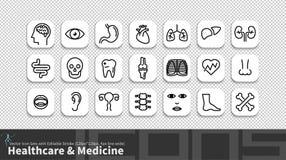 Moderne Einfachheitslinie Ikone eingestellt mit editable Anschlag stock abbildung