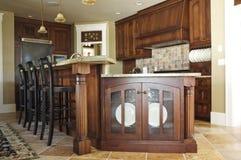 Moderne elegante Küche Stockfoto