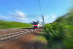 Moderne elektrische Serie Russland Effekt der Geschwindigkeit lizenzfreie stockfotos