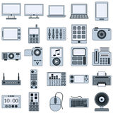 Moderne elektronische apparaten vectorpictogrammen Stock Afbeeldingen