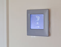 Moderne elektronische thermostaat Royalty-vrije Stock Foto