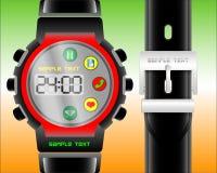 Moderne elektronische Uhr mit Zusatzfunktionen lizenzfreie stockfotos