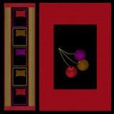 Moderne Elemente des orientalischen Musters mit Kirschhintergrund Stockfotos