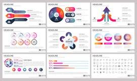 Moderne Elemente von infographics für Darstellungsschablonen für Fahne lizenzfreie abbildung