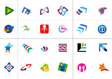 Moderne emblemen Royalty-vrije Stock Foto