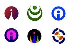 Moderne emblemen i Stock Fotografie