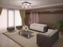 Moderne en comfortabele woonkamer Royalty-vrije Stock Fotografie