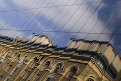 Moderne en oude architectuur Royalty-vrije Stock Foto's