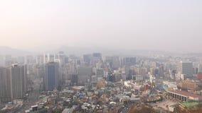 Moderne en oude Koreaanse architectuur, Seoel stock videobeelden