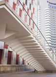 Moderne en Retro Gebouwen de stad in Royalty-vrije Stock Fotografie