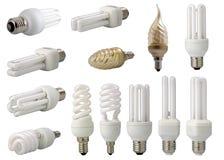 Moderne energiesparende Glühlampen Stockbilder