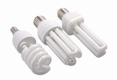 Moderne energiesparende Glühlampen Lizenzfreies Stockbild