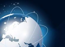 Moderne Erde in einem Web Lizenzfreie Stockfotos