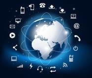 Moderne Erde in einem Web Lizenzfreies Stockfoto